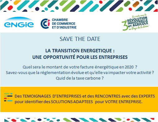 SAVE THE DATE : Ateliers de la transition énergétique avec ENGIE et la CCI Pays de la Loire - (44)