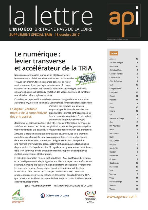 Le supplément spécial TRIA de la lettre API vient de sortir !