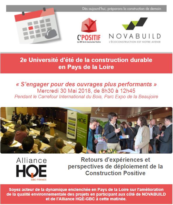 2ème Université d'été de la construction durable en Pays de la Loire - (44)