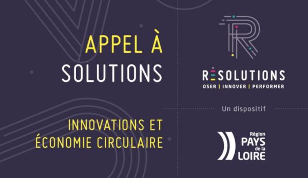 [Appel à Solutions] Résolutions « Innovations et Economie Circulaire »