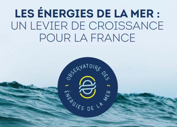 Le nouveau rapport de l'Observatoire des énergies de la mer est déjà disponible