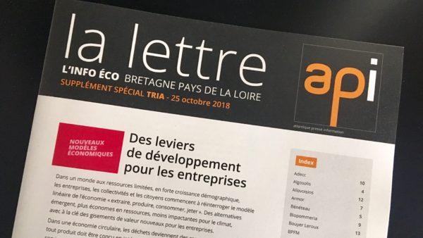 """Le supplément spécial TRIA """"Nouveaux Modèles économiques"""" de la Lettre API vient de sortir !"""