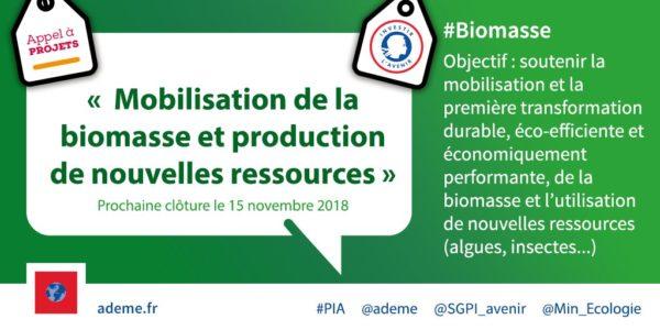 [Appel à projets] Mobilisation de la biomasse et production de nouvelles ressources