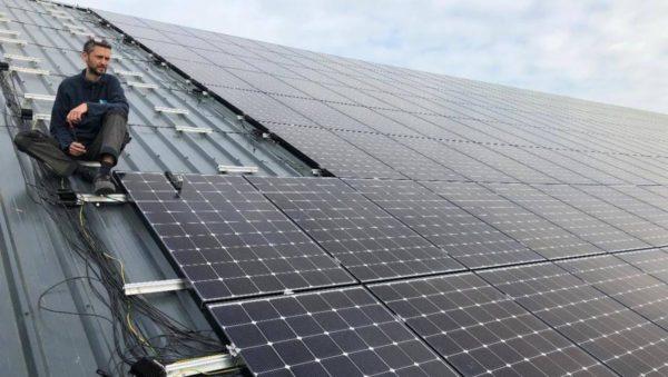 Inauguration d'une centrale photovoltaïque à Renazé en Mayenne