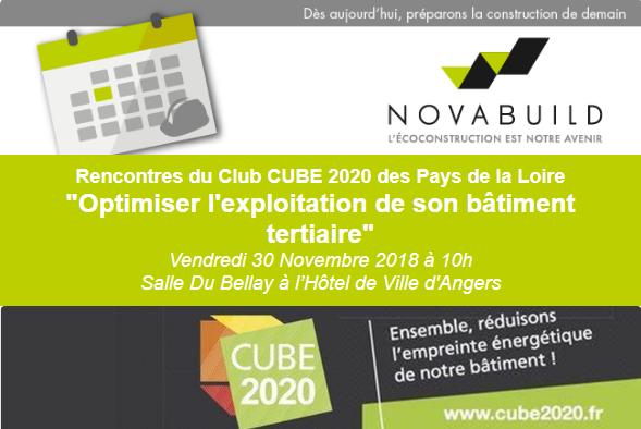 """Rencontres du Club CUBE 2020 #2 : """"Optimiser l'exploitation de son bâtiment tertiaire"""" - (49)"""