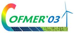 COFMER'03 : 3e édition Colloque franco - maghrébin sur les énergies renouvelables - (Marrakech)