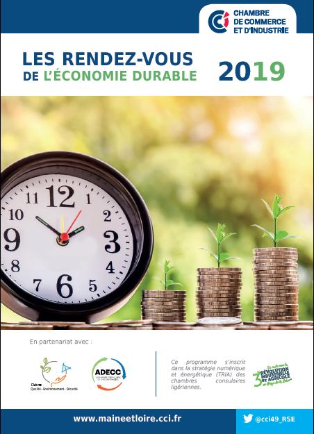 """A l'agenda : la CCI du Maine et Loire présente """"Les Rendez-vous 2019 de l'économie durable"""""""