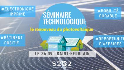 """Séminaire technologique """"Le renouveau du photovoltaïque"""" - (44)"""