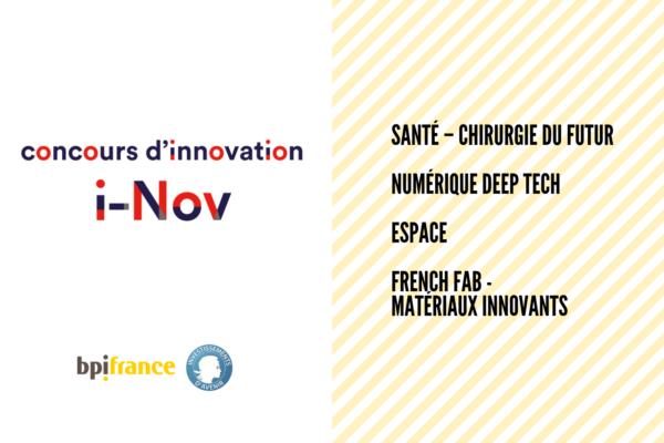 [Appel à projets] Concours d'innovation i-Nov (Bpifrance)
